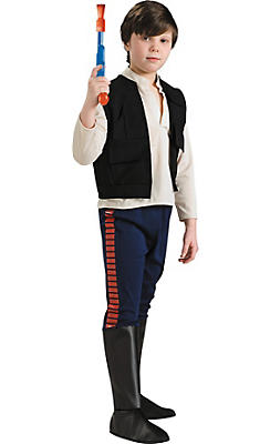 Boys Han Solo Costume - Star Wars Deluxe