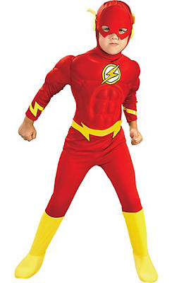 Boys The Flash Muscle Costume
