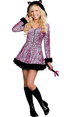 Teen Girls Pretty Lil' Kitty Cat Costume
