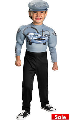 Toddler Boys Muscle Finn McMissile Costume - Cars 2