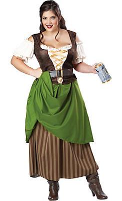 Adult Tavern Maiden Costume Plus Size