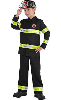 quick shop boys reflective firefighter costume - Fireman Halloween