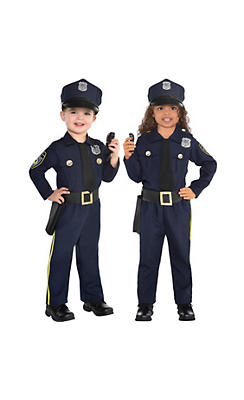 Toddler Boys Classic Police Officer Costume