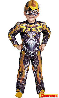 Toddler Boys Bumblebee Muscle Costume