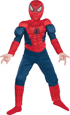 Party City Halloween Costumes For Boys zombie skate punk costume for boys party city Boys Classic Spider Man Muscle Costume