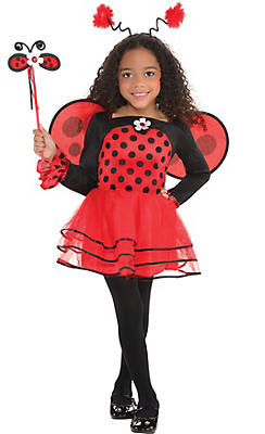 Toddler Girls Ballerina Ladybug Costume
