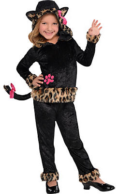 Little Girls Leopard Grrrl Cat Costume