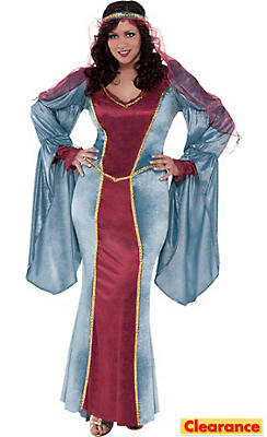 Adult Renaissance Queen Costume Plus Size