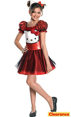 Girls Sequin Hello Kitty Costume