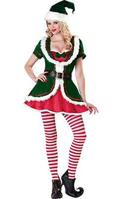 Adult Holiday Honey Elf Costume Elite