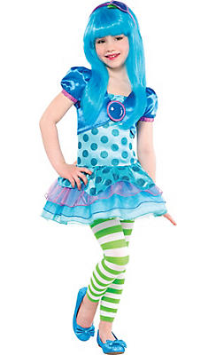 Toddler Girls Blueberry Muffin Costume - Strawberry Shortcake