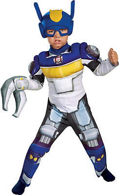 Toddler Boys Chase Muscle Costume - Transformers Rescue Bots