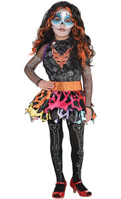 Little Girls Skelita Calaveras Costume Deluxe - Monster High