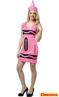 Adult Shocking Pink Crayola Crayon Costume