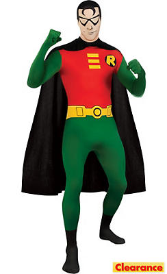 Adult Second Skin Robin Costume - Batman