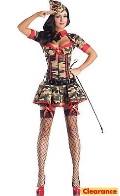 Adult Army Brat Body Shaper Costume