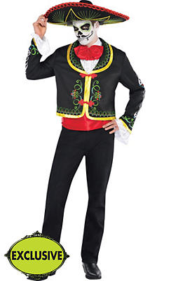 Adult Day of the Dead Sombrero Senor Costume