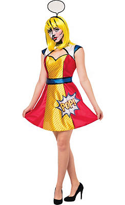 Adult Pop Art Woman Costume