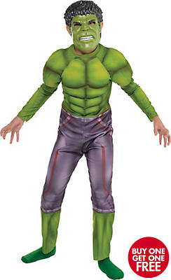 Boys Hulk Muscle Costume - Avengers: Age of Ultron
