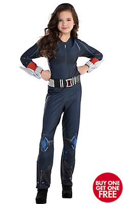 Girls Black Widow Costume - Avengers: Age of Ultron