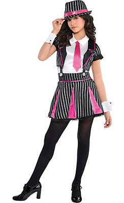 Girls Mob Doll Gangster Costume