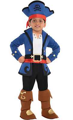 Toddler Boys Captain Jake Costume - Jake and the Never Land Pirates