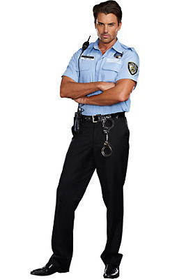 Adult Hugh B. Guilty Prison Guard Costume
