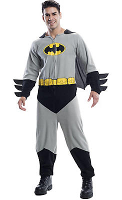 Adult Batman One-Piece Pajamas Costume