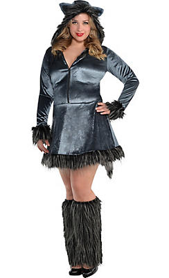 Adult Howling Hottie Wolf Costume Plus Size