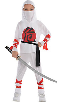 Toddler Boys White Warrior Ninja Costume