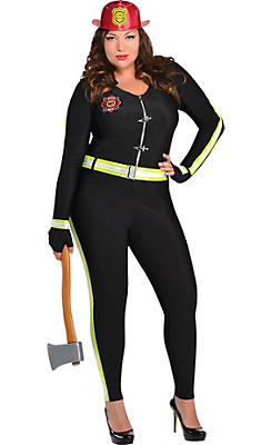 Adult Fired Up Firefighter Costume Plus Size