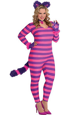 Adult Lady Cheshire Kitty Cat Costume Plus Size