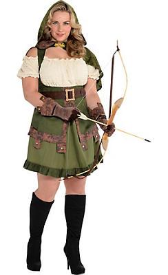 Adult Lady Robin Hood Costume Plus Size