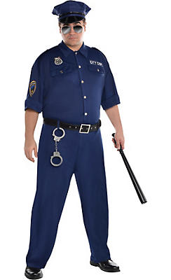 Adult On Patrol Police Costume Plus Size