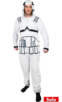 Storm Trooper One-Piece Pajama Costume - Star Wars