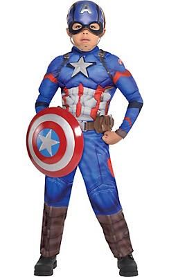 Little Boys Captain America Muscle Costume - Captain America: Civil War
