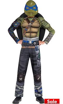 Boys Leonardo Muscle Costume - Teenage Mutant Ninja Turtles 2