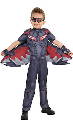 Little Boys Falcon Muscle Costume - Captain America: Civil War