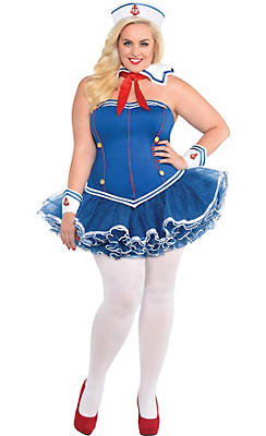 Adult Dreamboat Sailor Costume Plus Size