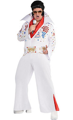 Adult King of Rock 'n' Roll Costume Plus Size