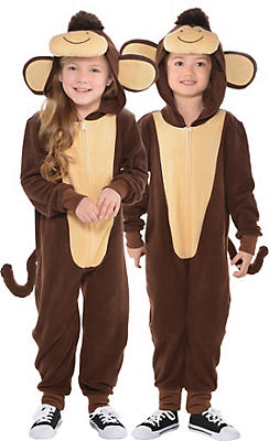 Toddler Zipster Monkey One Piece Costume