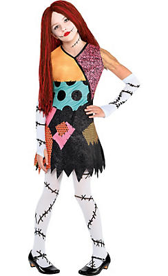 Girls Sally Costume - The Nightmare Before Christmas