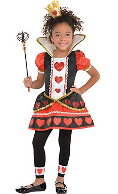 Toddler Girls Queen of Hearts Costume