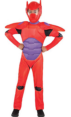Boys Red Baymax Costume - Big Hero 6