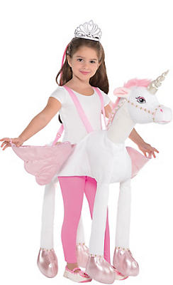 Girls Unicorn Ride-On Costume