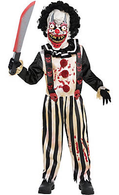 Little Boys Slasher Clown Costume