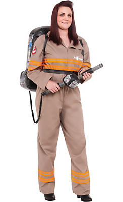 Adult Ghostbuster Costume Plus Size