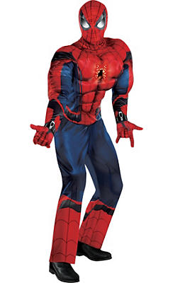 Adult Light-Up Spider-Man Muscle Costume - Captain America: Civil War