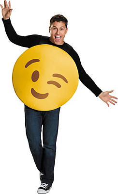 Adult Winking Smiley Costume