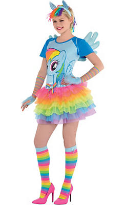 Adult Rainbow Dash Costume Deluxe - My Little Pony